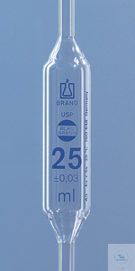 Vollpipette USP BBR,AS,25ml,1 Marke